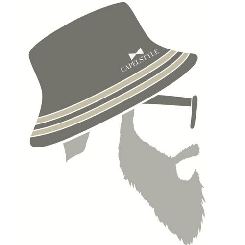 Hombre con barba y gorro con logo de capelstyle